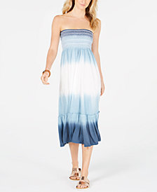 Raviya Tie-Dyed Strapless Cover-Up Dress