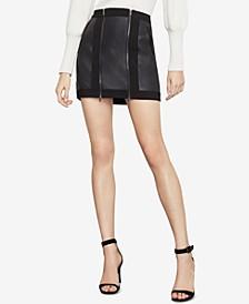 Roxy Faux-Leather Mini Skirt