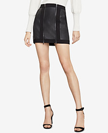 BCBGMAXAZRIA Roxy Faux-Leather Mini Skirt