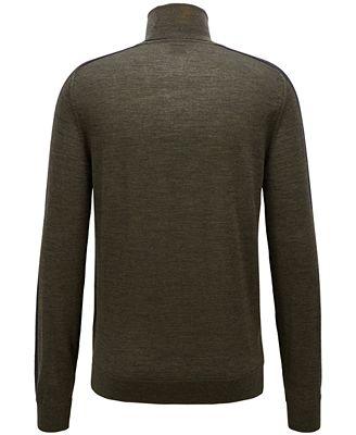 Hugo Boss Boss Mens Virgin Wool Turtleneck Sweater Sweaters Men