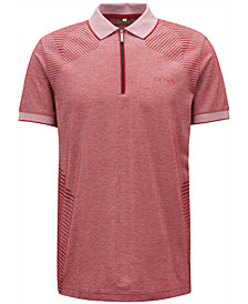 BOSS Men's Zip-Neck Polo