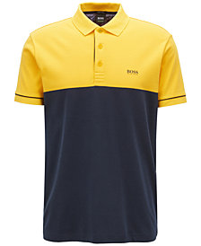BOSS Men's Colorblocked Cotton Polo