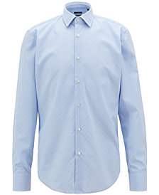 BOSS Men's Regular/Classic-Fit Cotton Poplin Shirt