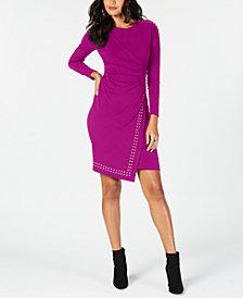 Thalia Sodi Studded Faux-Wrap Dress, Created for Macy's