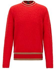 BOSS Men's Textured Stripe-Detail Sweater