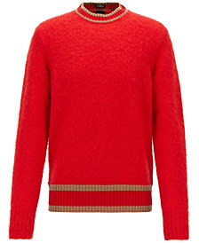 BOSS Men's Textured Stripe-Detail Sweater