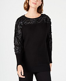 Embellished Mesh Sweater, Created for Macy's