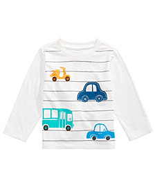 First Impressions Baby Boys Long-Sleeve Cars T-Shirt, Created for Macy's