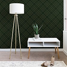 Marta Barragan Camarasa Vintage Emerald Pattern 2'x4' Wallpaper