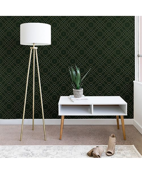 Deny Designs Marta Barragan Camarasa Vintage Emerald Pattern 2'x4' Wallpaper
