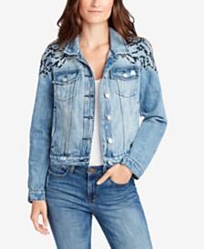WILLIAM RAST Cotton Studded Denim Jacket