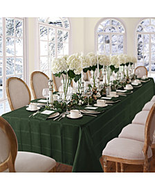 "Elrene Elegance Plaid Holly Green 60"" X 84"" Oval Tablecloth"