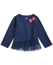 First Impressions Baby Girls Ruffle-Hem T-Shirt, Created for Macy's