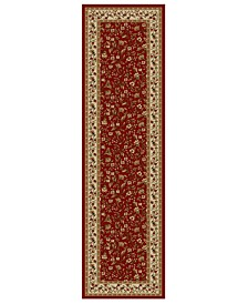"CLOSEOUT!! Pesaro Floral Red 2'2"" x 7'7"" Runner Area Rug"