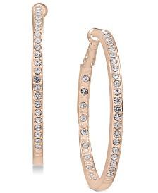 Essentials Large Crystal Inside Out Hoop Earrings