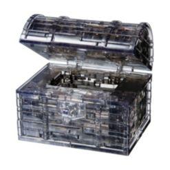 3D Crystal Puzzle - Black Treasure Chest