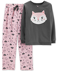 Carter's Little & Big Girls 2-Pc. Fleece Cat Pajamas Set