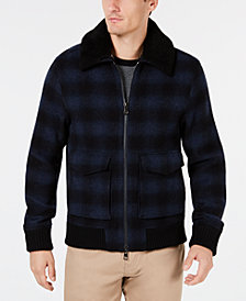 Michael Kors Men's Ombré Check Bomber Jacket