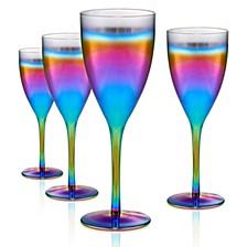 Rainbow 12oz. Goblet, Set of 4.
