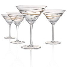 Reflections 8oz Martini Glasses, Set of 4