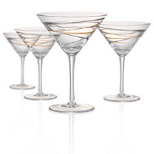 Artland Reflections 8oz Martini Glasses, Set of 4