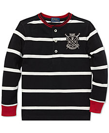 Polo Ralph Lauren Little Boys Striped Mesh Cotton Henley Shirt