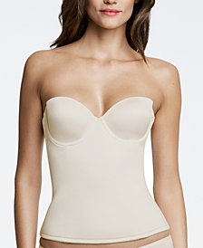 Dominique Paige Seamless Padded Strapless Longline Bra 8500