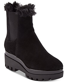 DKNY Bax Wedge Boots, Created for Macy's