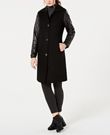 Jones New York Puffer-Sleeve Walker Coat