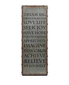 Imax Galvanized Inspirational Wall Art