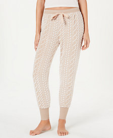 Ande Frosted Cable Cut Pile Jogger Pajama Pants