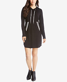 Karen Kane Hooded Sweatshirt Dress