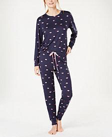 Jenni Soft Printed Knit Pajama Set, Created for Macy's