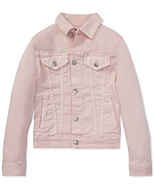 Polo Ralph Lauren Big Girls Pink Pony Denim Trucker Jacket