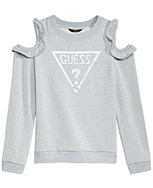GUESS Big Girls Cold Shoulder Fleece Sweatshirt