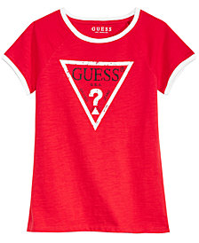 GUESS Big Girls Ringer Logo Cotton T-Shirt