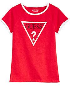 GUESS Big Girls Ringer Logo Cotton T-Shirt