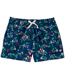 Tommy Hilfiger Big Girls Tropical-Print Cotton Shorts
