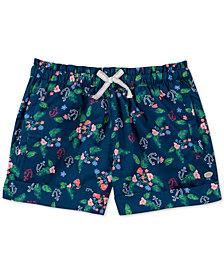 Tommy Hilfiger Big Girls Tropical-Print Cotton Shorts