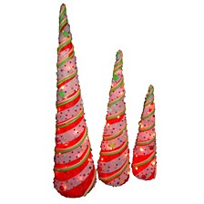 National Tree PreLit Sisal Cone Assortment