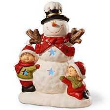 "National Tree 17"" Lighted Snowman Décor Piece"