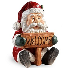 "National Tree 16"" Santa Holding Welcome Sign"