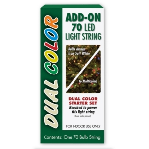 National Tree Company 70 Bulb Dual Color Led Light String Add-on Set, 5 Function