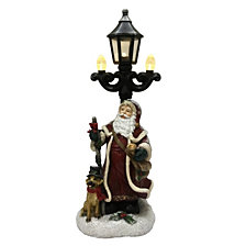 "National Tree Company 15"" Santa with Lamp Post"