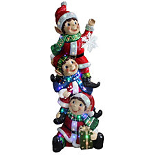"National Tree Company 59"" Pre-Lit Stacked Elves Decoration"
