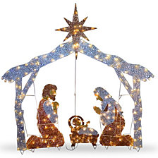 "National Tree Company 55"" Nativity Scene with Clear Lights"