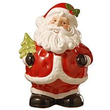 """National Tree 10"""" Santa Cookie Jar"""