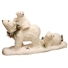 "National Tree 11.7"" Polar Bear with 2 Babies"