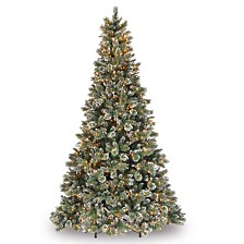 National Tree Glittery Bristle Pine With 900 Clear Lights