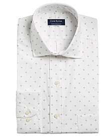 Club Room Men's Classic/Regular Fit Stretch Pine Print Dress Shirt, Created for Macy's